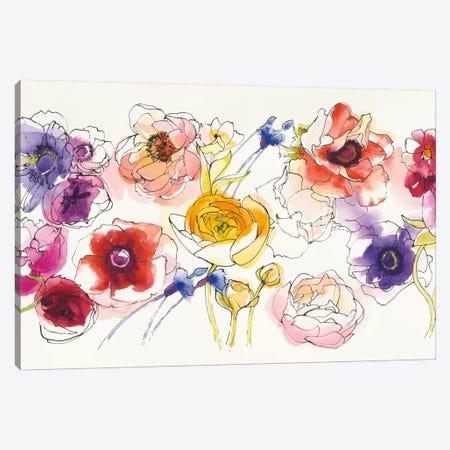 Rainbow Ruffles Canvas Print #WAC5404} by Shirley Novak Canvas Art Print