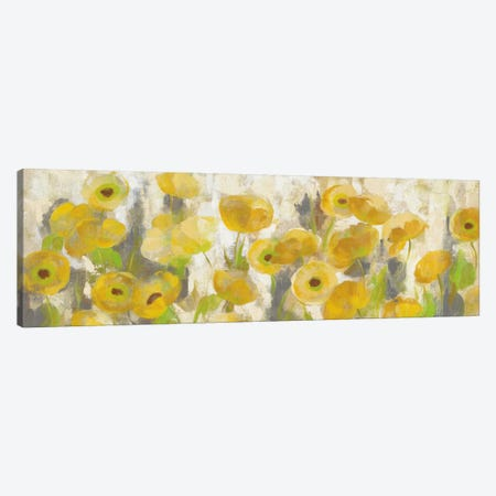 Floating Yellow Flowers I Canvas Print #WAC5410} by Silvia Vassileva Canvas Print