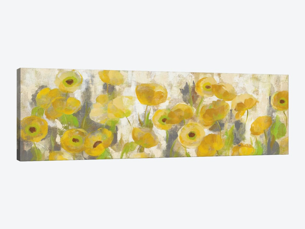 Floating Yellow Flowers I by Silvia Vassileva 1-piece Canvas Art
