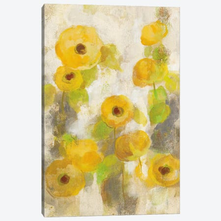Floating Yellow Flowers II Canvas Print #WAC5411} by Silvia Vassileva Canvas Art Print