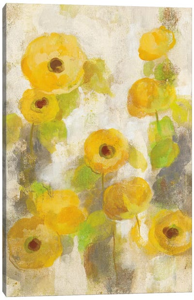 Floating Yellow Flowers II Canvas Art Print