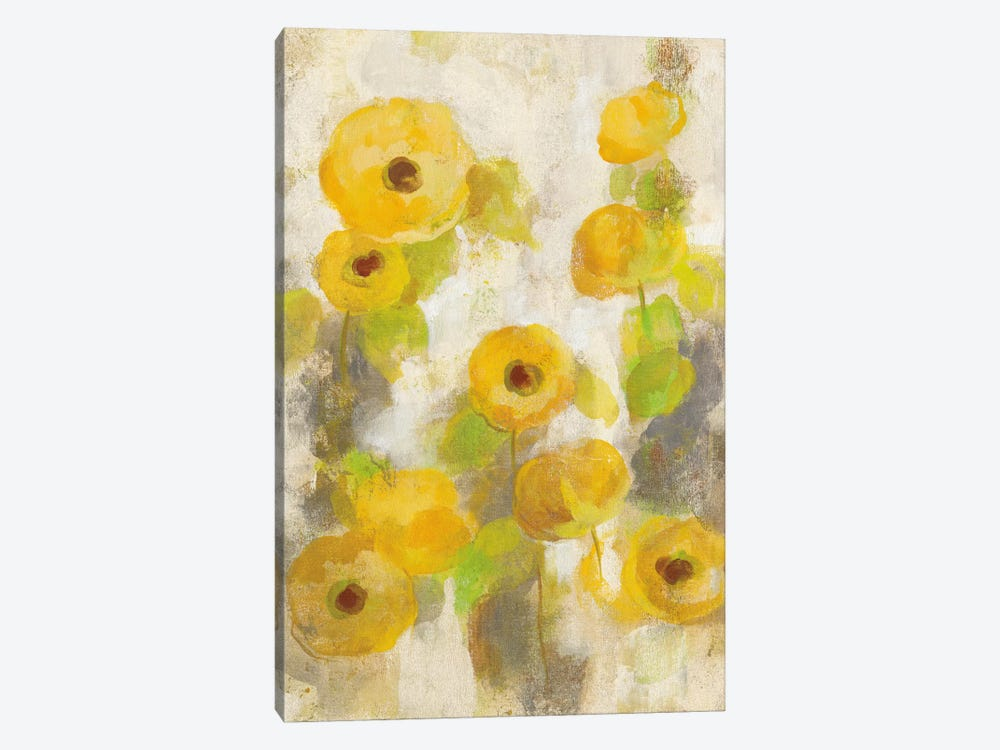 Floating Yellow Flowers II by Silvia Vassileva 1-piece Canvas Print