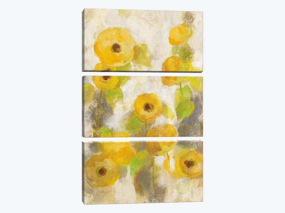 Floating Yellow Flowers II by Silvia Vassileva 3-piece Art Print
