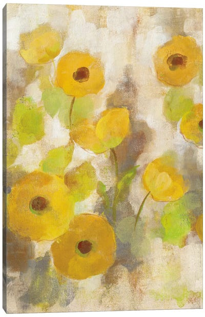 Floating Yellow Flowers III Canvas Print #WAC5412