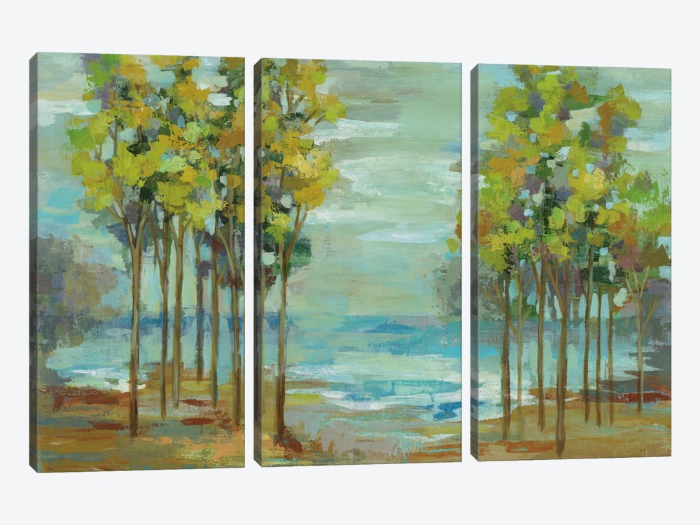 Spring Trees by Silvia Vassileva 3-piece Canvas Art