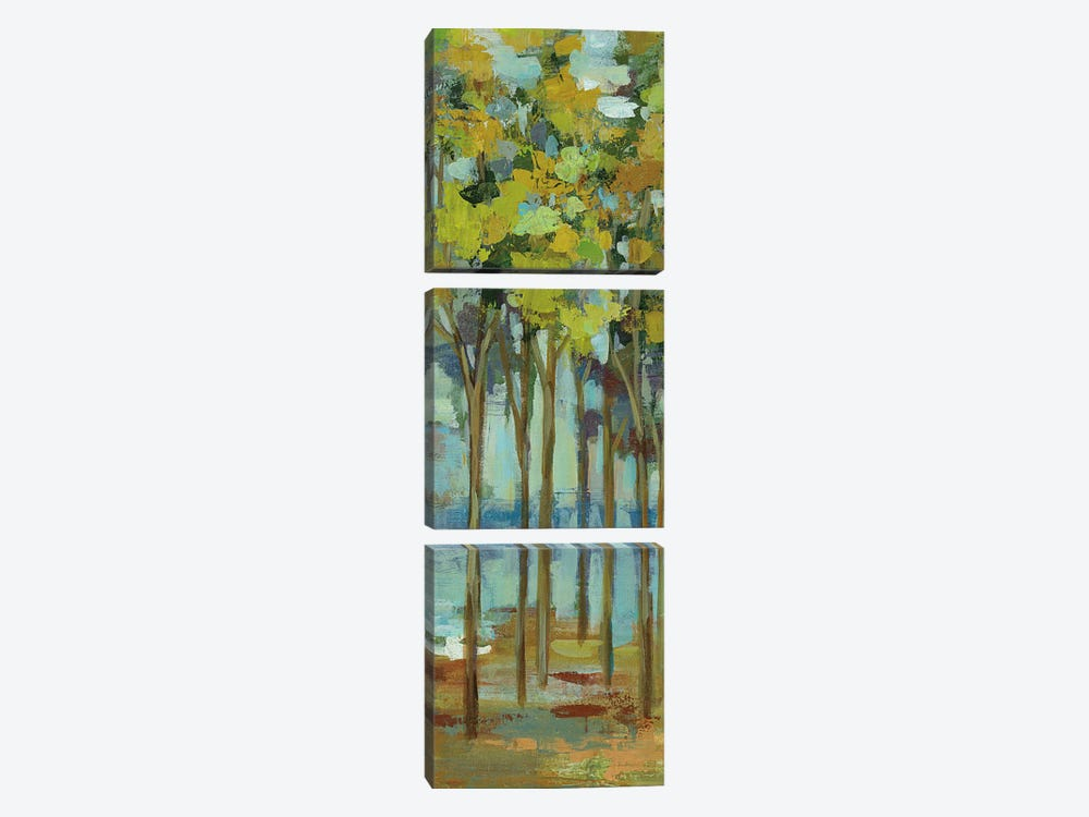 Spring Trees Panel I by Silvia Vassileva 3-piece Canvas Art Print