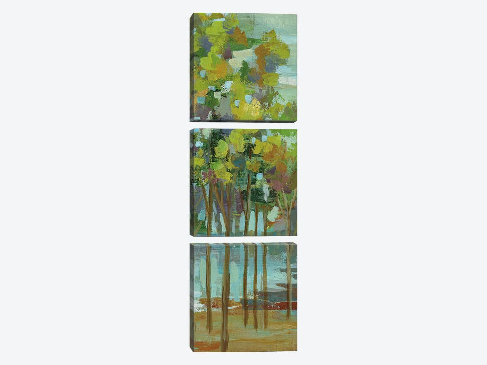 Spring Trees Panel II by Silvia Vassileva 3-piece Canvas Wall Art