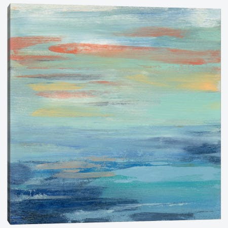 Sunset Beach I Canvas Print #WAC5417} by Silvia Vassileva Canvas Art