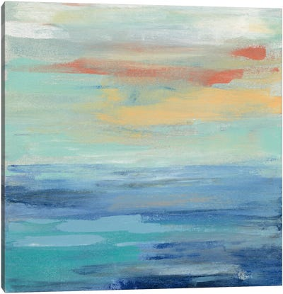 Sunset Beach II Canvas Art Print