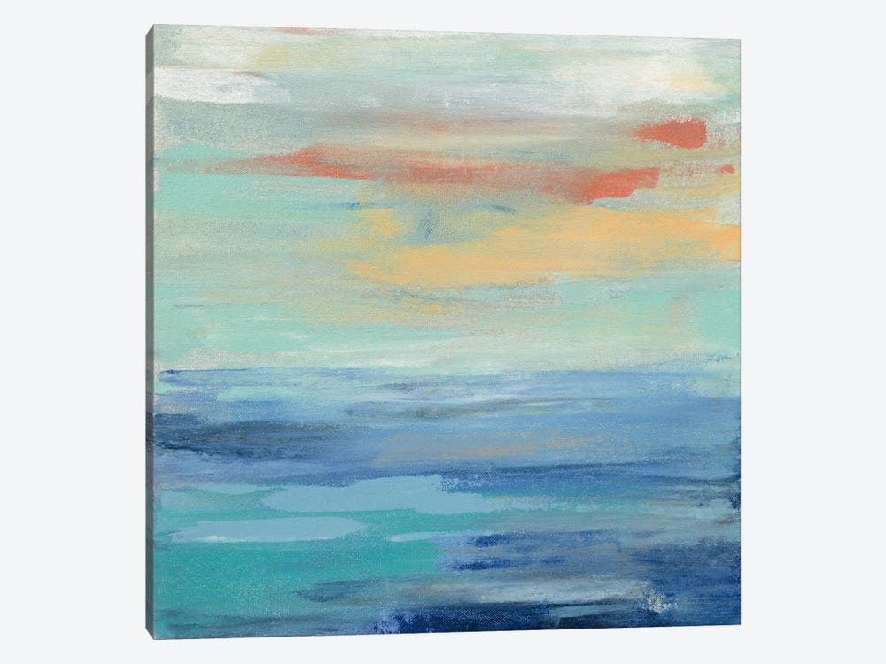 Sunset Beach II 1-piece Canvas Wall Art