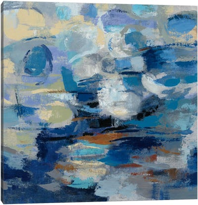Ultramarine Waves I Canvas Print #WAC5419