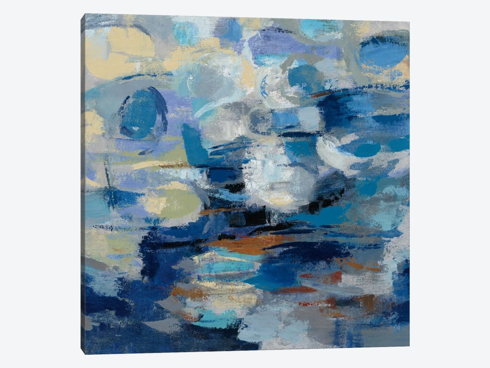 Ultramarine Waves I 1-piece Canvas Art Print
