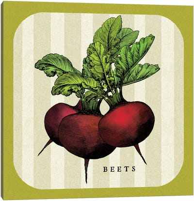 Linen Vegetable I Canvas Art Print