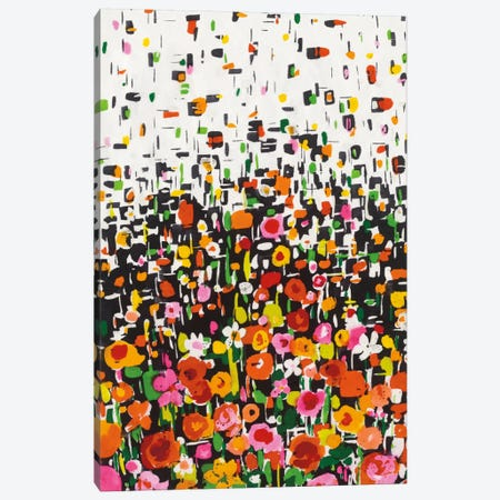Flower Shower I Canvas Print #WAC5437} by Wild Apple Portfolio Canvas Wall Art