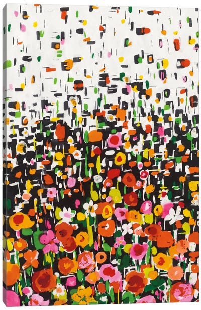 Flower Shower I Canvas Art Print