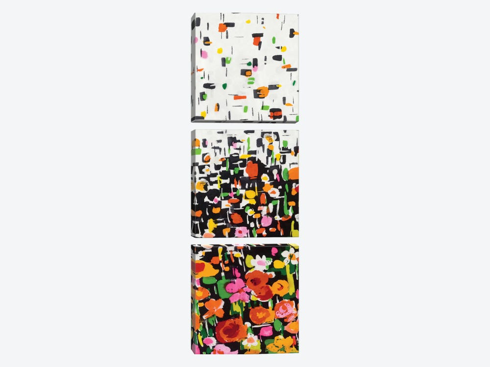 Flower Shower II by Wild Apple Portfolio 3-piece Canvas Artwork