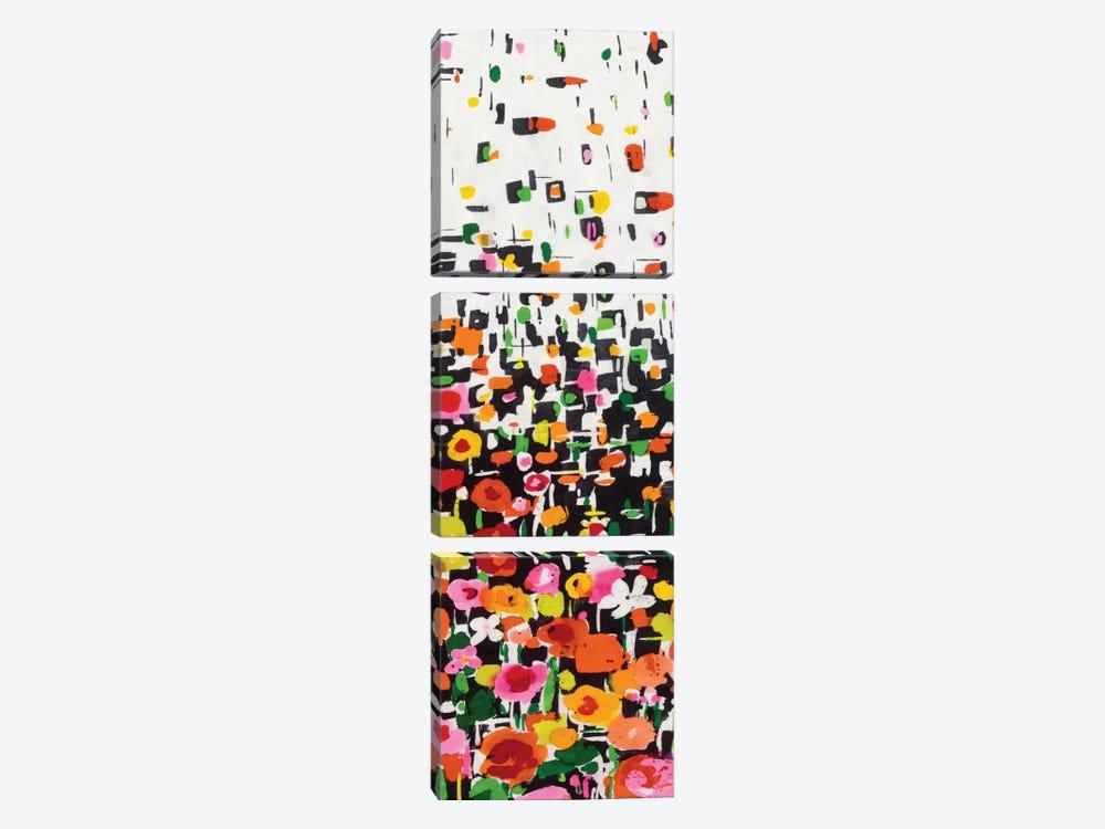 Flower Shower III by Wild Apple Portfolio 3-piece Art Print