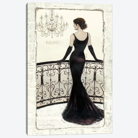 La Belle Noir Canvas Print #WAC544} by Emily Adams Canvas Artwork