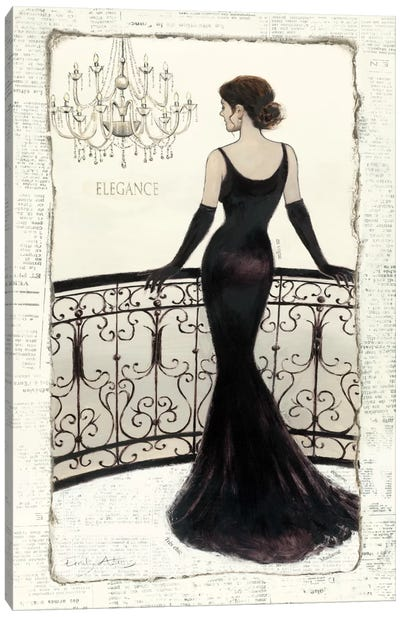 La Belle Noir Canvas Art Print