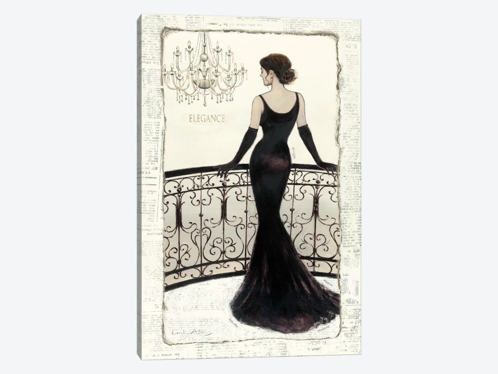 La Belle Noir by Emily Adams 1-piece Canvas Art