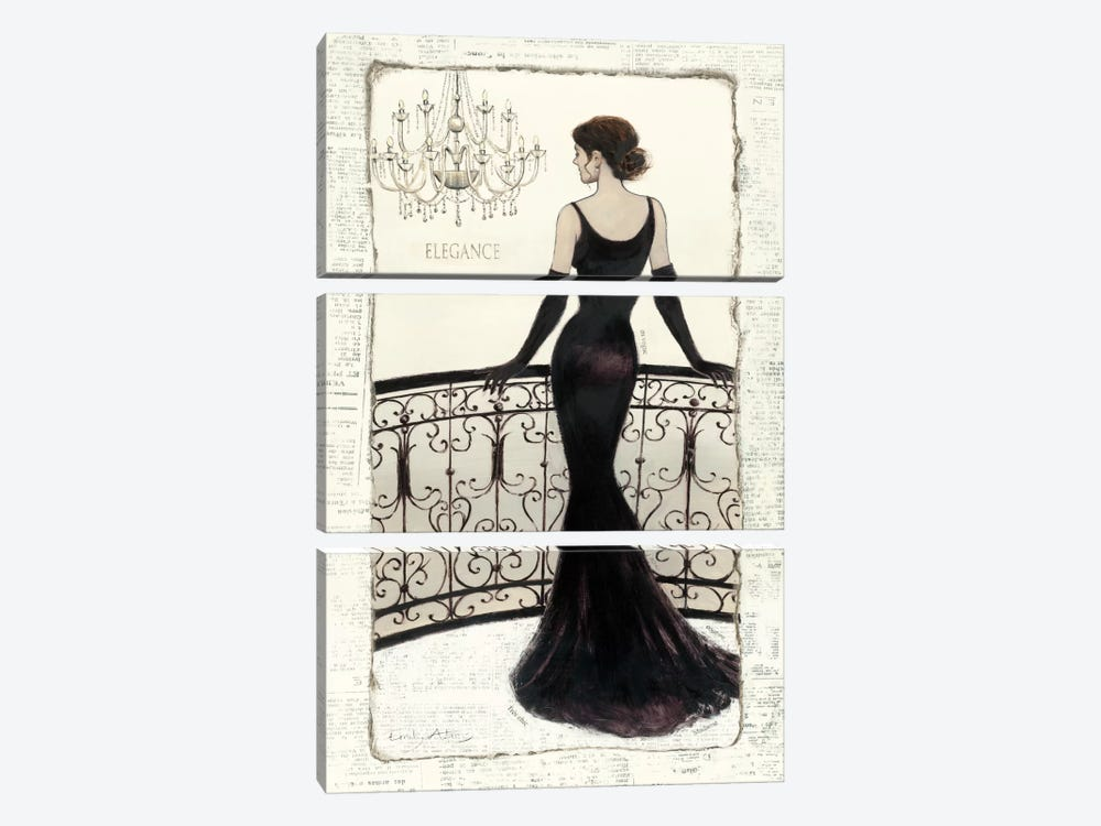 La Belle Noir by Emily Adams 3-piece Canvas Wall Art