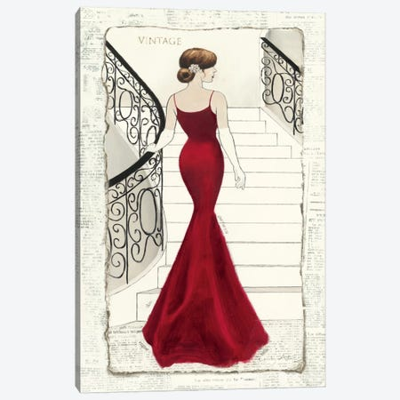La Belle Rouge Canvas Print #WAC545} by Emily Adams Canvas Art