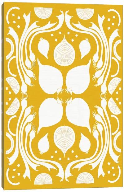 Retro Onion Otomi Silhouette Canvas Art Print