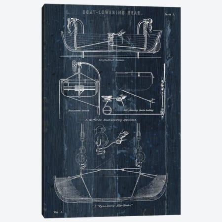 Boat Launching Blueprint I Canvas Print #WAC5480} by Wild Apple Portfolio Canvas Wall Art