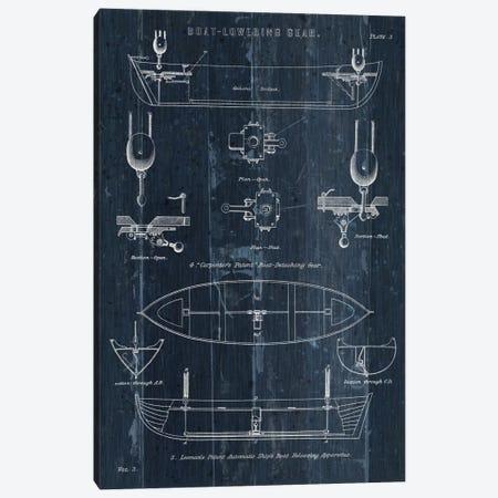 Boat Launching Blueprint II Canvas Print #WAC5481} by Wild Apple Portfolio Canvas Wall Art