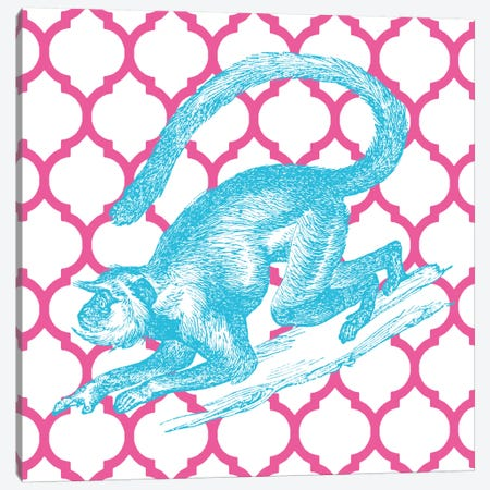 Bright Menagerie Monkey Canvas Print #WAC5482} by Wild Apple Portfolio Canvas Art