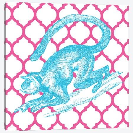 Bright Menagerie Monkey Canvas Print #WAC5482} by Wild Apple Portfolio Canvas Art