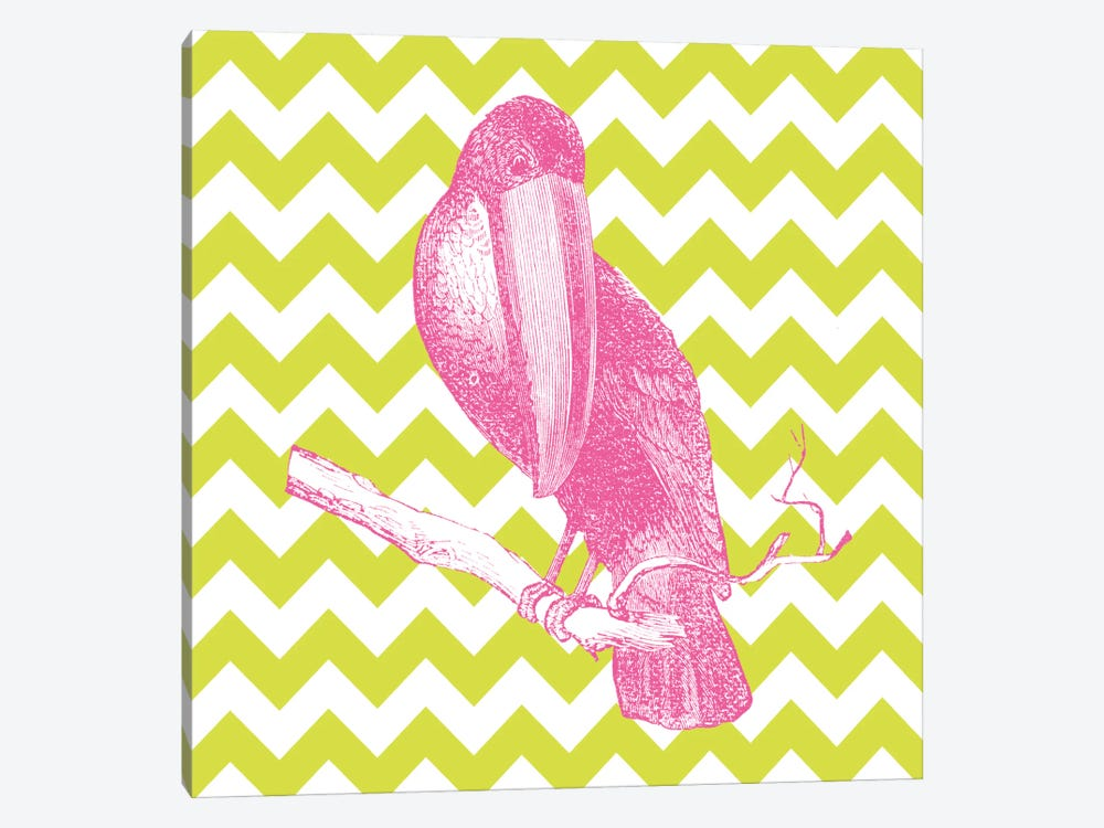Bright Menagerie Toucan by Wild Apple Portfolio 1-piece Canvas Art Print