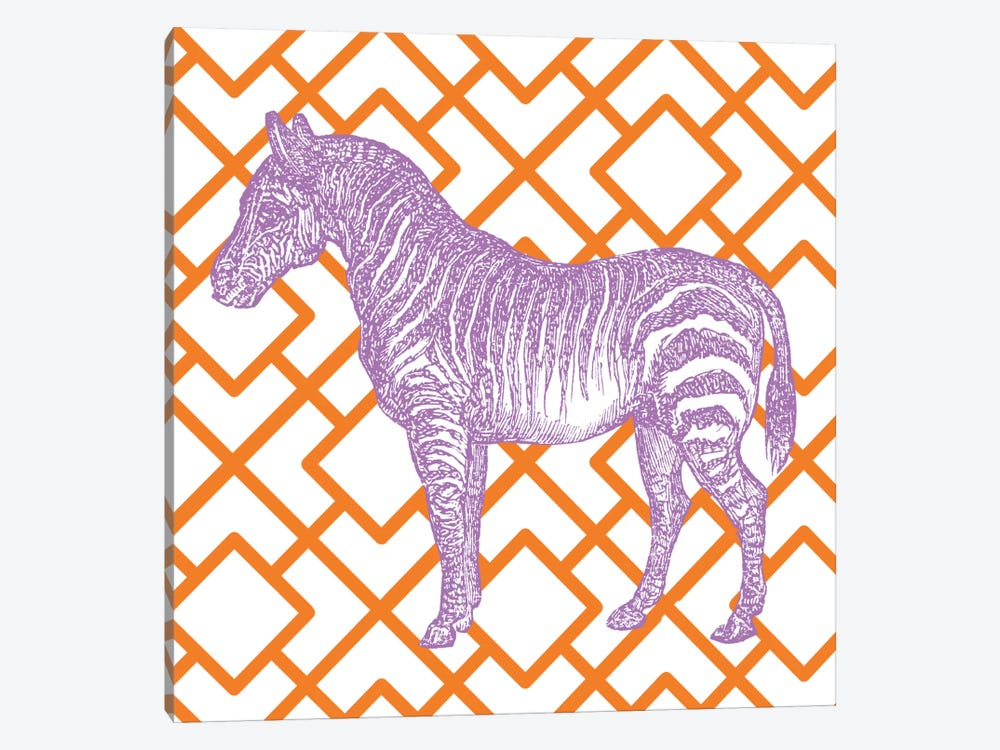 Bright Menagerie Zebra by Wild Apple Portfolio 1-piece Canvas Artwork