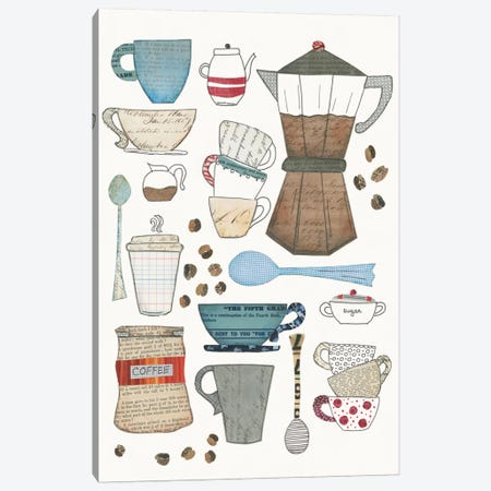 Coffee Chart I Canvas Print #WAC5489} by Courtney Prahl Canvas Art