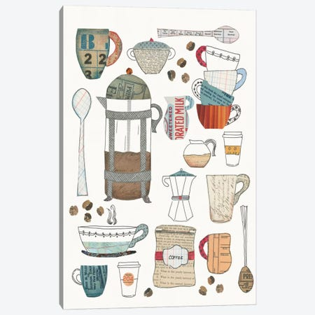 Coffee Chart II Canvas Print #WAC5490} by Courtney Prahl Art Print