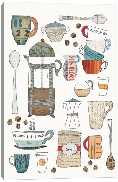 Coffee Chart II Canvas Art Print