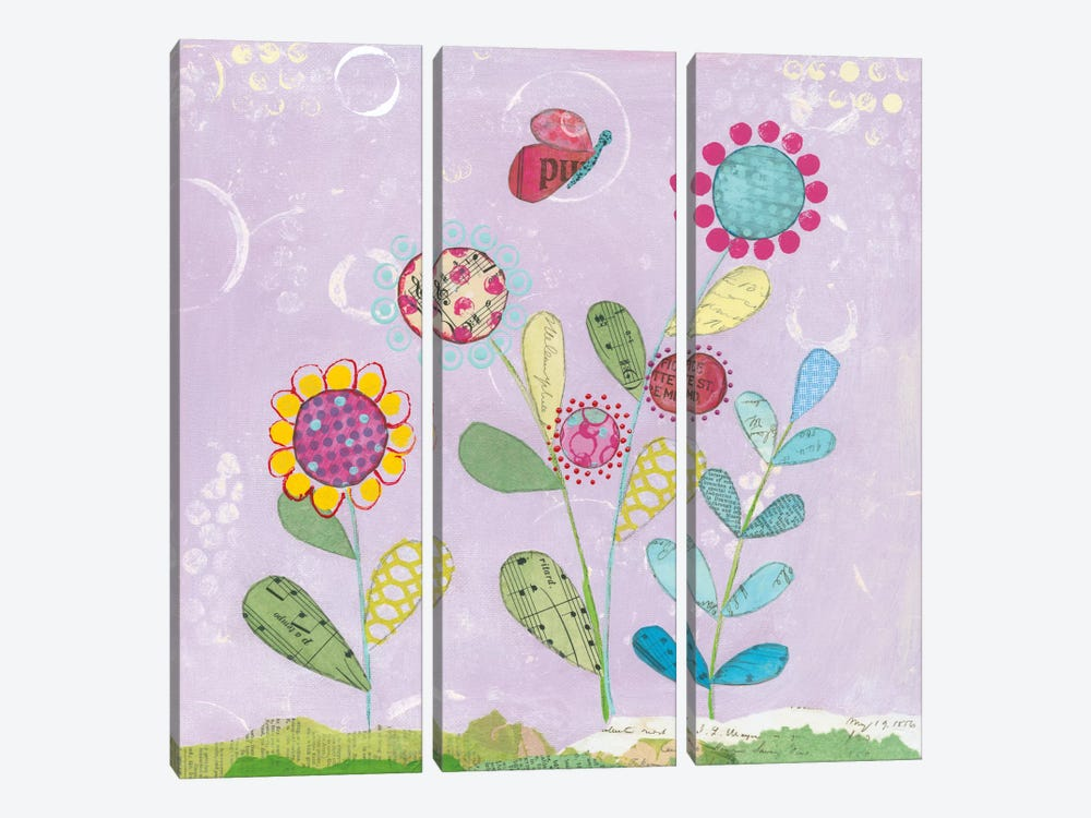 Patty's Garden I 3-piece Canvas Art Print