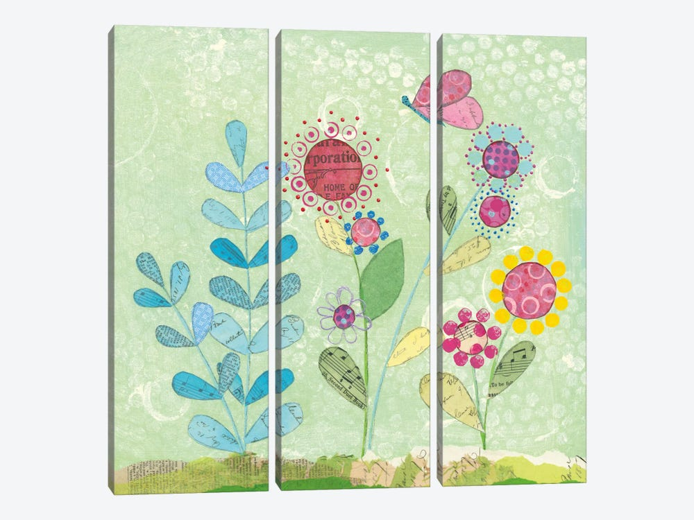 Patty's Garden II by Courtney Prahl 3-piece Canvas Art