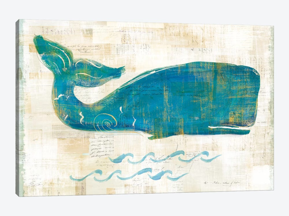 On The Waves I by Sue Schlabach 1-piece Canvas Wall Art