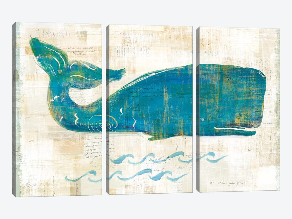 On The Waves I by Sue Schlabach 3-piece Canvas Artwork