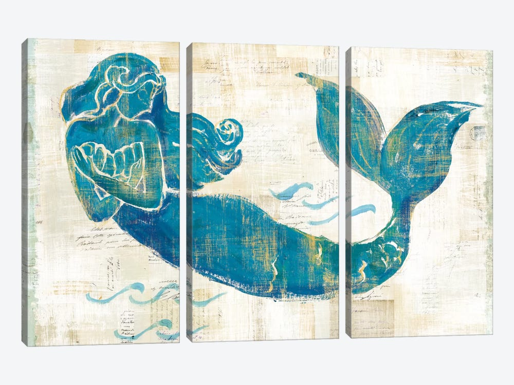 On The Waves II by Sue Schlabach 3-piece Art Print