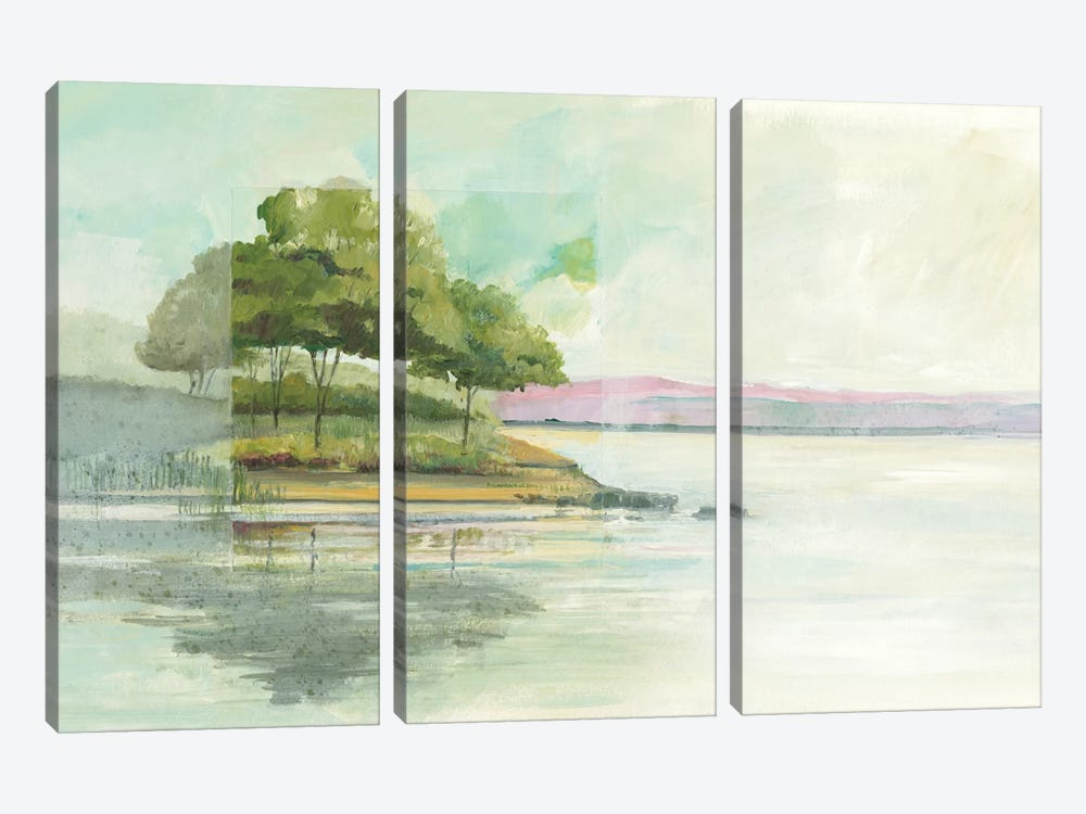 Lake Front I by Avery Tillmon 3-piece Canvas Art Print