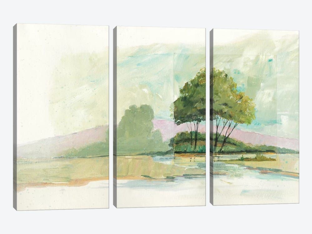 Lake Front II by Avery Tillmon 3-piece Canvas Art
