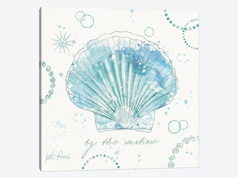 Coastal Splash II by Katie Pertiet 1-piece Canvas Art Print