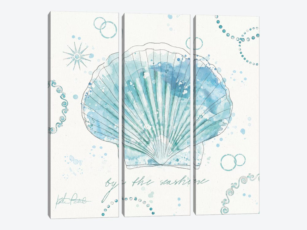 Coastal Splash II by Katie Pertiet 3-piece Canvas Print