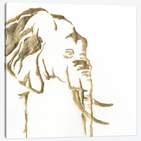 Gilded Elephant Canvas Print #WAC5520} by Chris Paschke Art Print