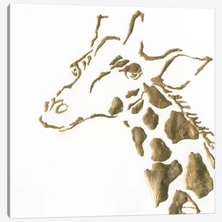 Gilded Giraffe Canvas Print #WAC5521} by Chris Paschke Canvas Art Print