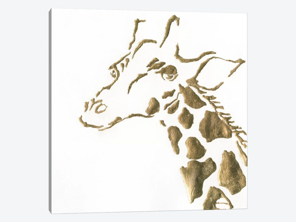 Gilded Giraffe by Chris Paschke 1-piece Canvas Art Print