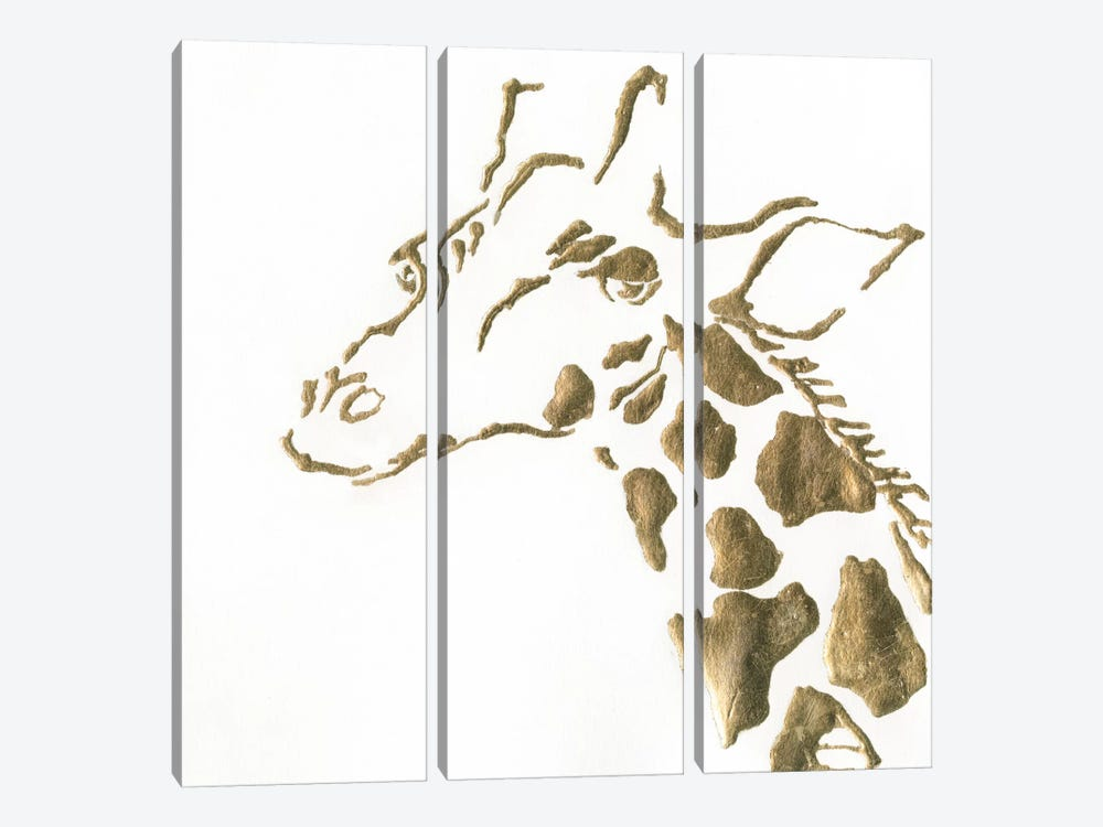 Gilded Giraffe by Chris Paschke 3-piece Art Print