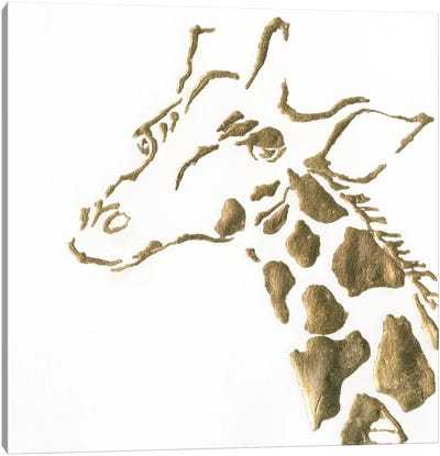 Gilded Giraffe Canvas Art Print